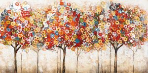 colorful abstract trees