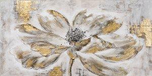 Blume mit goldenen Blättern