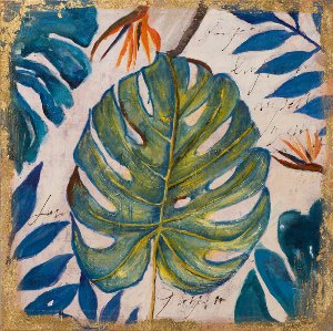 leaves in blue and green I