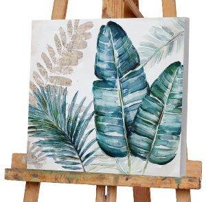 Blätter in grün und blau