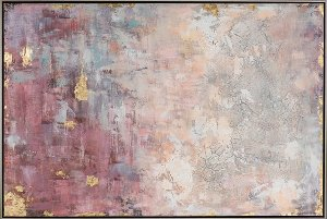 Abstract in pink and gold