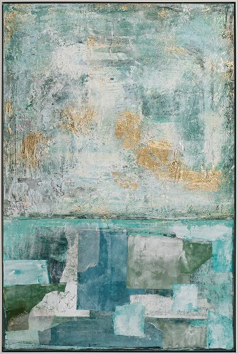 Abstract in green and blue