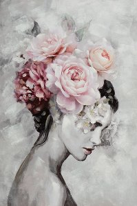 Beauty wit delicate flowerwig