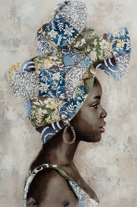 Dark beauty with blue turban