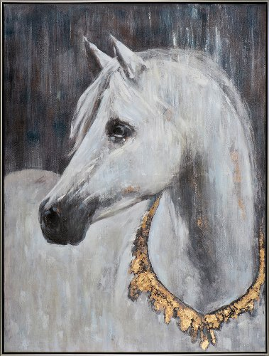 White horse with golden collar