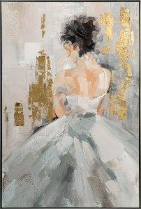 Vue de dos d'une femme en robe blanche III o.ä.
