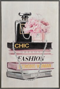 Fashion books with perfume bottle
