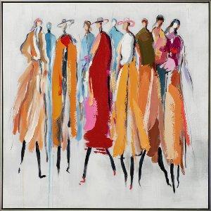 Groupe de femmes multicolores II