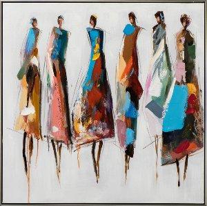 Farbenfrohe Damengruppe I
