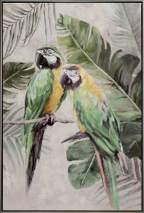 Green-yellow parrots