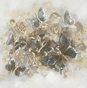 wild butterflies in gold and silver Iv