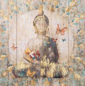 Bouddha avec papillons