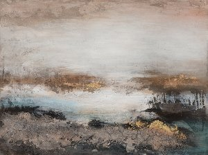 Abstract with brown, black, gold II