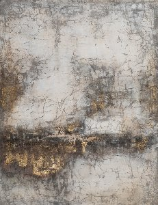 Abstract with nude, brown, gold I