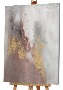Abstract with rose and gold