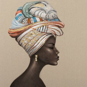 Drak beauty with colorful turban I