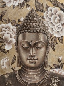 Buddha in gold and silver