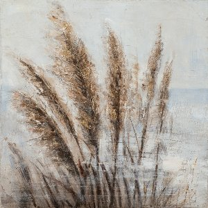 Golden seagrass in the wind