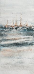 Abstract sailing ship