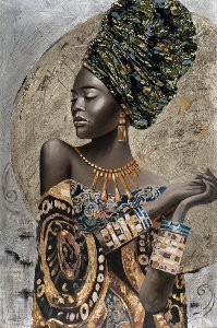 Decorated beauty with turban I