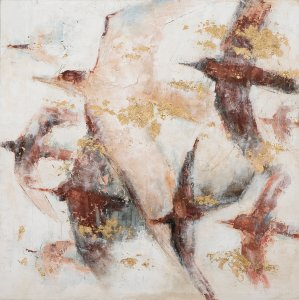 Abstract birds in the wind