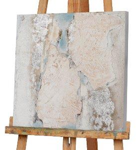 Abstrakt in nude und blau