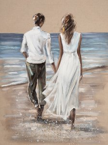 In love on the beach