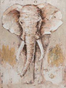 Éléphant d'Afrique brun clair