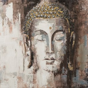 Buddha with thin face