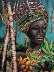 Beauté ébène avec turban + Nr.