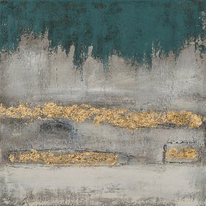 abstract in blue and gold III
