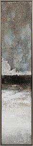 Abstrakte Farbkomposition in grau und silber
