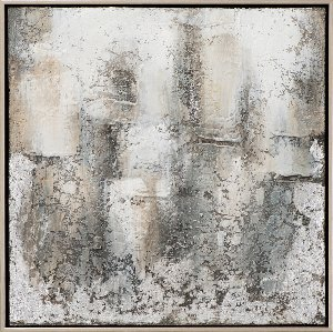 Abstract in grey and silver II