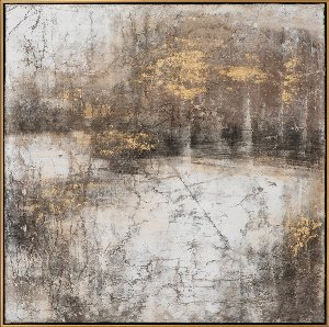 Abstract in brown and gold II