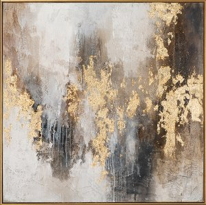 Abstract in brown and gold I