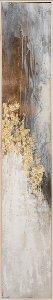Schmale abstrakte Farbkomposition mit braun und