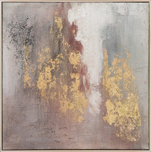 Abstract with rose and gold II