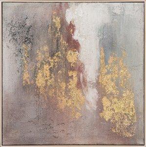 Abstrakte Farbkomposition mit rose und gold II