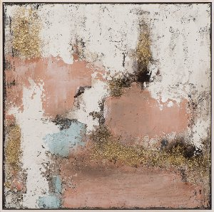 Abstract in gold and rose