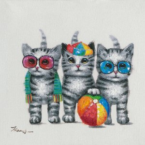 cats playing II