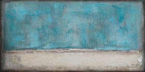 abstract blue sunrise II