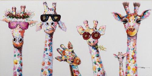 Kuriose Giraffenfamilie