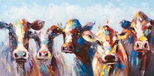 Astonished cows