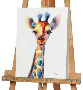 Bunt gepunktete Giraffe