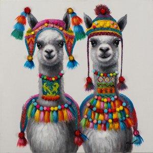 two llamas in inca style