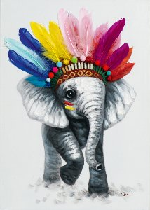 little elefant with feathers
