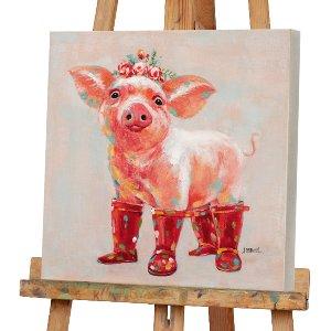 Schweinchen mit roten Stiefeln