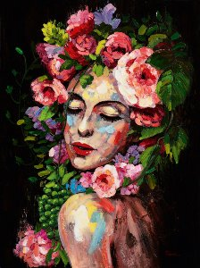 Beauty with flowerwig I