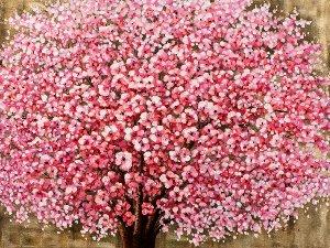 Blühender Baum mit Hochglanz II
