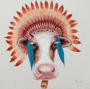 Cow with indian wig